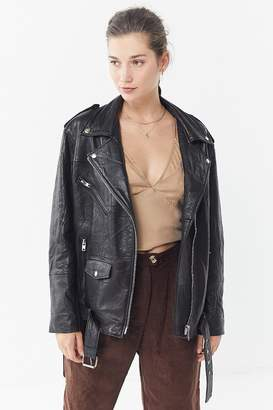 Urban Renewal Vintage X PeleCheCoco Oversized Leather Biker Jacket