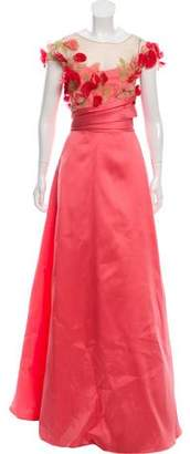 Marchesa Satin Evening Gown w/ Tags