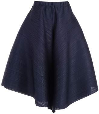 Pleats Please Issey Miyake Wide Cropped Drape Trousers