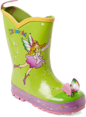 Kidorable Toddler/Kids Girls) Green Fairy Rain Boots