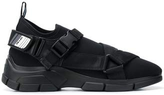 Prada buckled sock sneakers