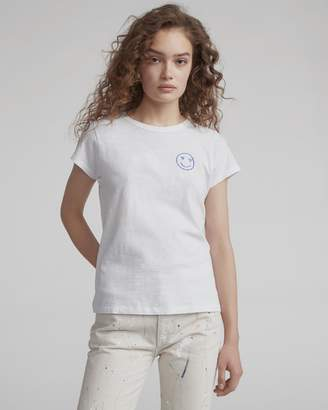 Rag and Bone Love face embroidered tee