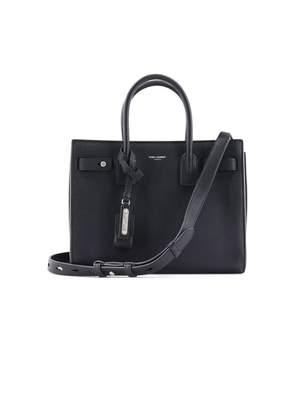 Saint Laurent Black Sac De Jour Bag