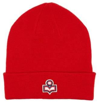 Isabel Marant Hart Logo Wool Beanie - Womens - Red