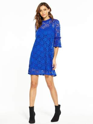 bdaede73aa Very Lace Fluted Sleeve Dress