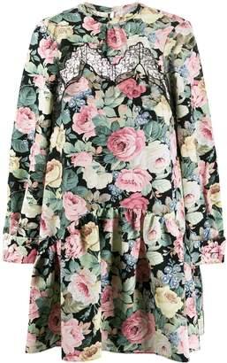 VIVETTA lace insert floral print dress