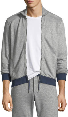 Orlebar Brown Kirke Contrast-Trim Zip-Front Jacket
