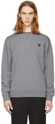 McQ Grey Swallow Badge Crewneck Sweatshirt