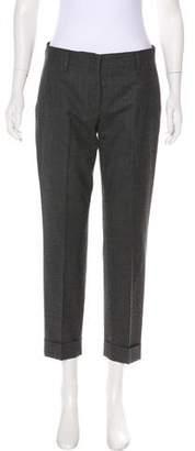 Prada Mid-Rise Straight-Leg Pants