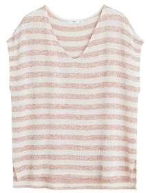 MANGO Striped jersey t-shirt