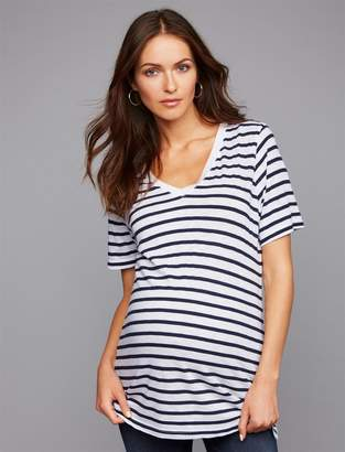 Splendid Deep V Maternity Tee