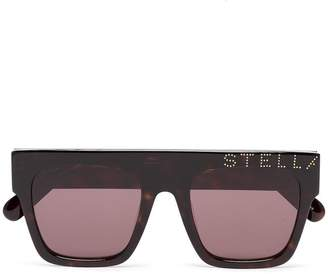 Stella McCartney Eyewear straight bridged square framed logo sunglasses
