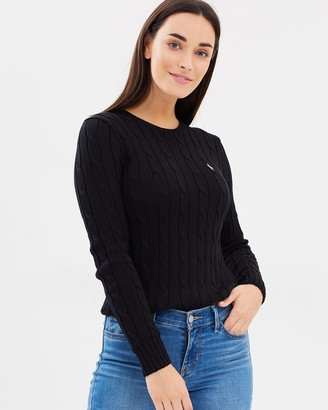 Polo Ralph Lauren Julianna Cotton Cable Crew-Neck Sweater
