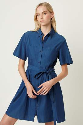 Leila French Connenction Ixie Button Shirt Dress
