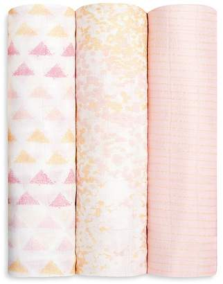 Aden and Anais Infant Girls' Silky Swaddles, 3 Pack