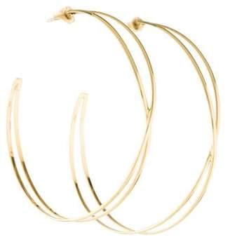Lana 14K Crossover Hoop Earrings