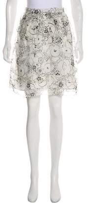Christian Dior Silk Floral Print Skirt