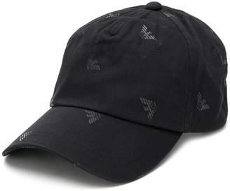 Emporio Armani logo print baseball cap