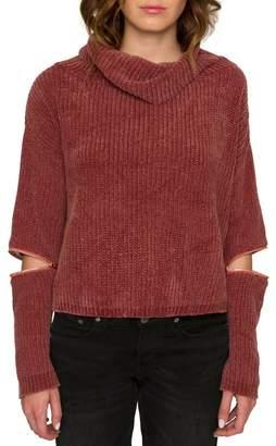 Willow & Clay Zip Sleeve Turtleneck Sweater