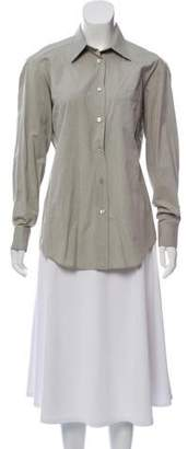 Max Mara Weekend Long Sleeve Button-Up Blouse