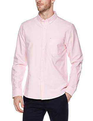 Trimthread Men's Casual Buttoned Collar Standard Fit Long Sleeve Cotton Oxford Shirt Top (