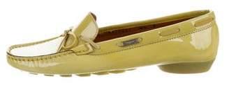 Salvatore Ferragamo Patent Leather Bow Loafers