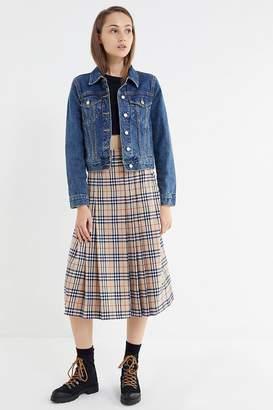 Urban Outfitters Aggie Plaid Pleated Midi Skirt
