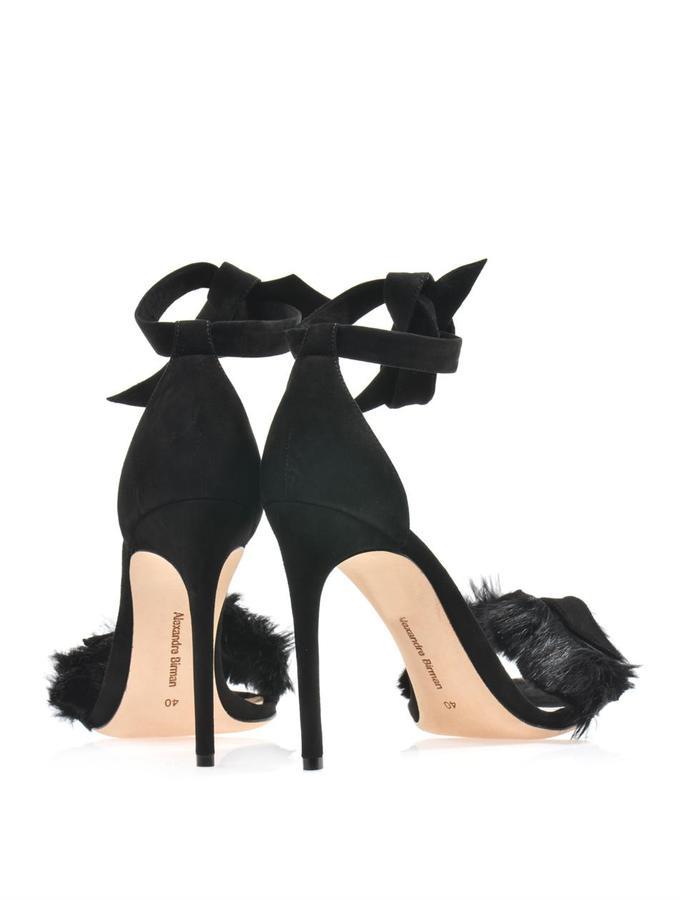 Alexandre Birman Suede and fur sandals