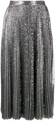 MSGM pleated maxi skirt
