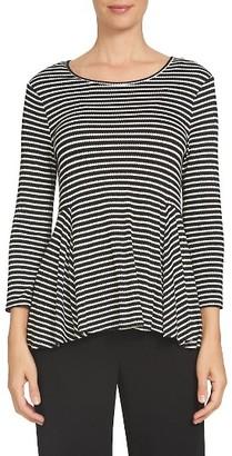 Women's Cece Scallop Stripe Peplum Top $69 thestylecure.com