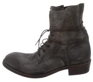 ARI Distressed Leather Combat Boots w/ Tags