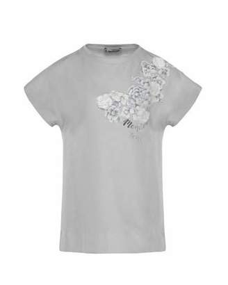 Moncler Maglia Flower & Logo Short-Sleeve T-Shirt, Size 4-6