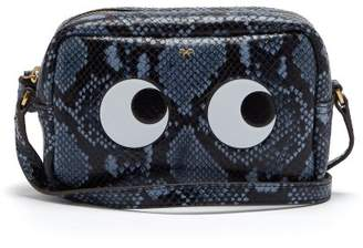 Anya Hindmarch Eyes Python Effect Leather Cross Body Bag - Womens - Grey Multi