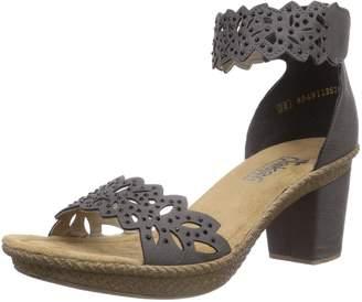 Rieker Women's Rieker, Rabea 55 Mid Heel Sandal 3.7 M