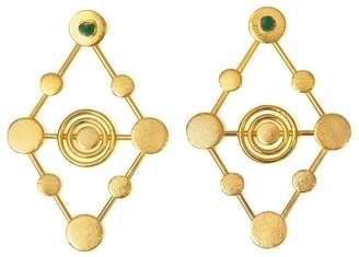 Amalia Tao Vanessa Arcila Emerald Drop Earrings