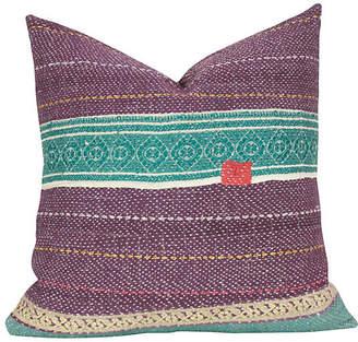 One Kings Lane Vintage Oorja Bengal Kantha Pillow