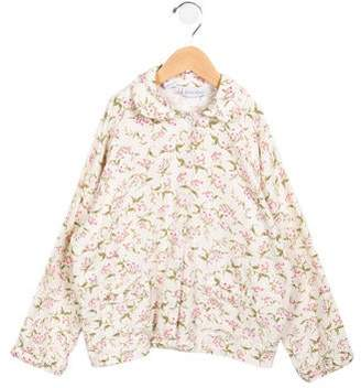 Rachel Riley Girls' Ruffled Floral Top