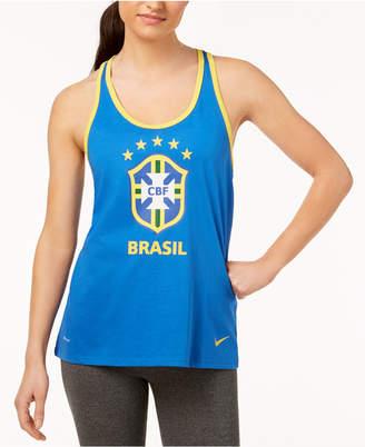 Nike Cotton Brazil Graphic Racerback Tank Top