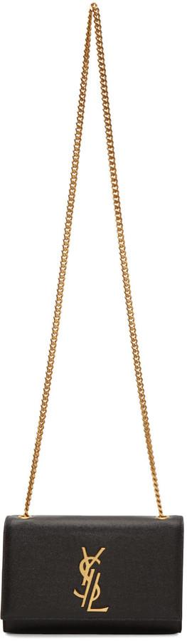 Saint LaurentSaint Laurent Black Small Deconstructed Monogram Kate Chain Wallet Bag