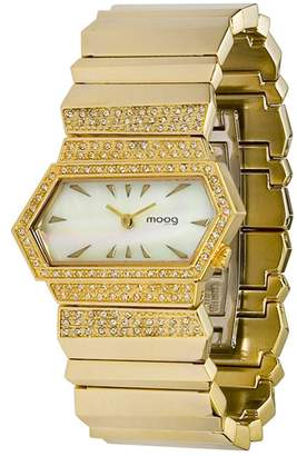 Swarovski Moog Paris Broken Women's Watch with Dial, Gold Stainless Steel Strap & Elements - M45084-103