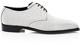 Corthay Men's Sergio Three Eyelet Glitter Formal Lace-Up Brogue Shoes