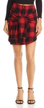 Buffalo David Bitton Pistola Emilie Tie-Front Plaid Skirt
