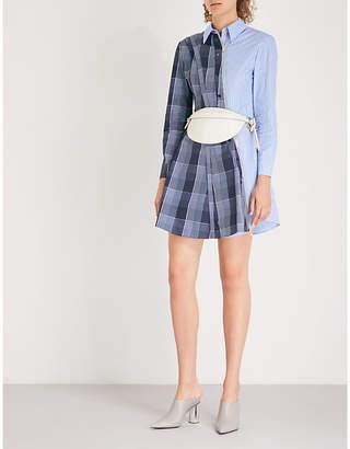 Stella McCartney Contrast-panel cotton mini dress