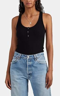 NSF Women's Zara Rib-Knit Henley Tank - Black