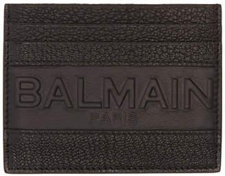 Balmain Black Logo Card Holder