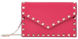 Valentino Leather Rockstud Wallet Bag