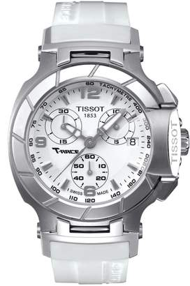 Tissot T-Race Chronograph Silicone Strap Watch, 40mm