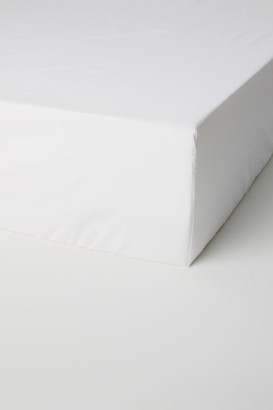 H&M Fitted Cotton Sheet - White