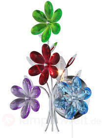 Farbenfrohe Wandleuchte Flower