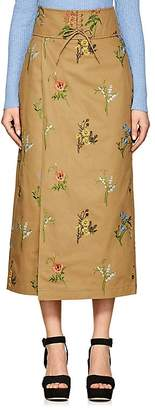 TOMORROWLAND Women's Embroidered Cotton Midi-Skirt